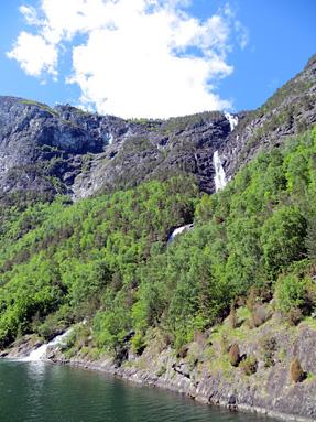 ソグネフィヨルドの滝