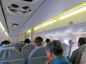 フィンランド航空機内