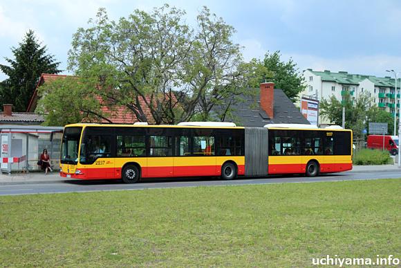 ワルシャワの市バス