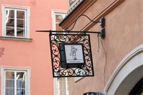 旧市街の看板