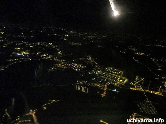 リスボン空港から帰路・リスボン上空