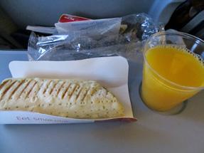 KLMオランダ航空・機内食(軽食)