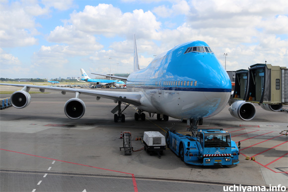 スキポール空港・KLMオランダ航空機