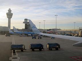 スキポール空港離陸