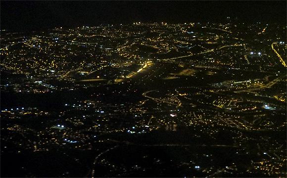 リスボン空港上空