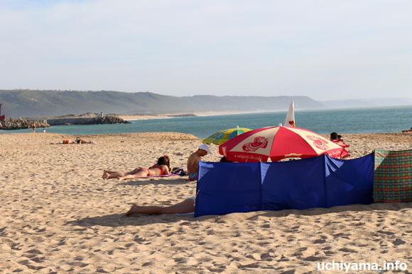 ナザレの浜辺