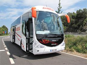 パテルナへの道風景・移動したバス