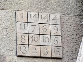 サグラダ・ファミリア聖堂・数字板