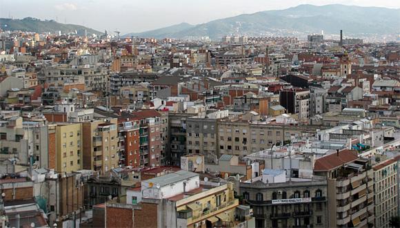 バルセロナ市街地の景観