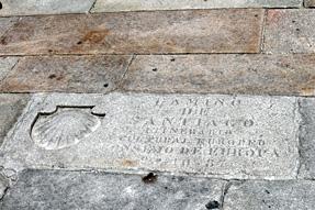 オブラドイロ広場・キリスト教巡礼の道のゴール地点