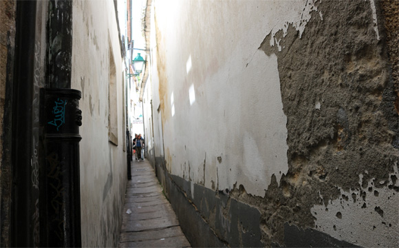 サンティアゴ・デ・コンポステーラの路地裏