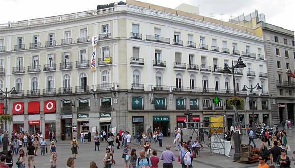 マドリードの街角