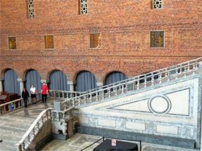 ストックホルム市庁舎の大広間