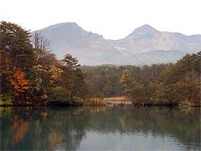 毘沙門沼・磐梯山