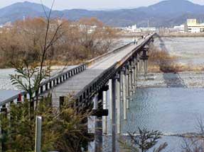 大井川・蓬莱橋