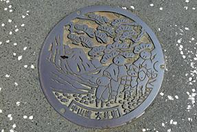 中山道・大井宿のマンホールの蓋