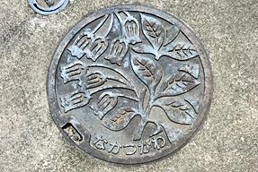 岐阜県中津川市のマンホールの蓋