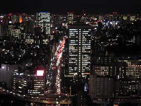 東京タワーから見る夜景