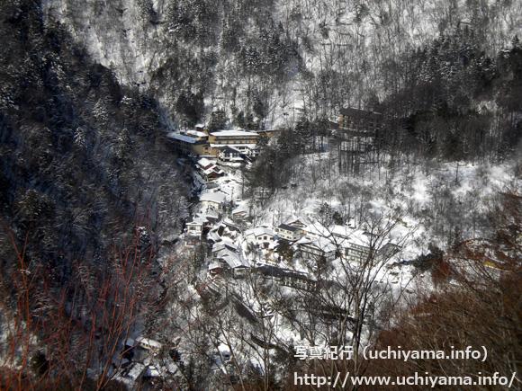 白骨温泉への道