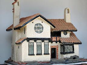 永原町通り・ヴォーリーズ建築の陶器製作品