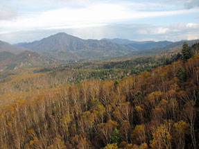 黒岳ロープウェイからの景観