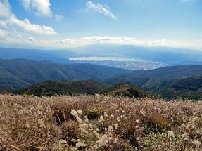 高ボッチ山・諏訪湖方面