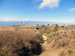 高ボッチ山・アルプスの山々