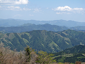 萩太郎山からの景観