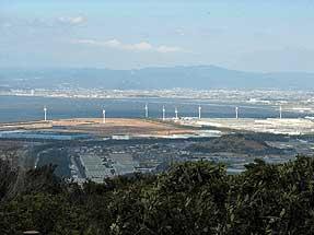 頂上展望台より・田原臨海風力発電所