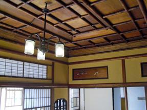 旧神谷伝兵衛稲毛別荘・2階天井