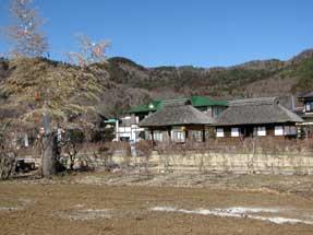 忍野村の民家