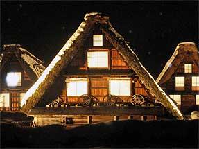 白川郷(かん町)・ライトアップ夜景