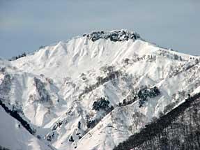 白川郷(かん町)からの白山