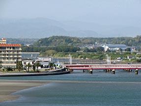 浜名大橋から浜名湖・弁天島方面を見る