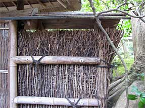 祇王寺の垣根