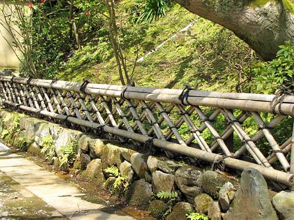 今熊野観音寺の垣根 今熊野観音寺の垣根