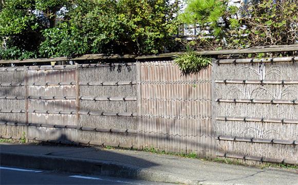 鎌倉市内の垣根