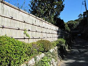 摩訶耶寺の垣根