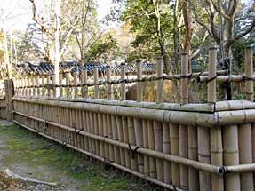 二尊院の垣根