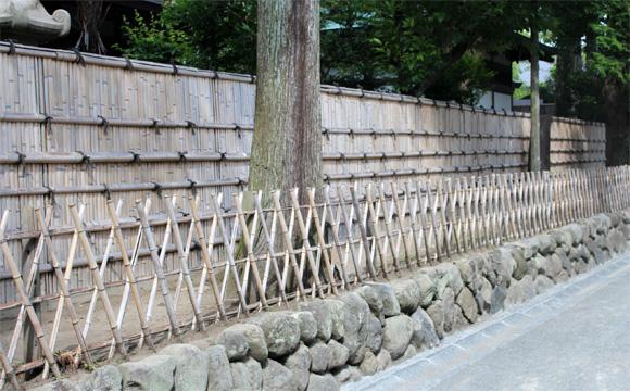 鶴岡八幡宮の垣根
