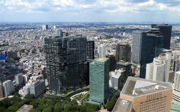 東京都庁・展望室からの眺望