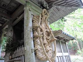 百済寺・仁王門と大草鞋