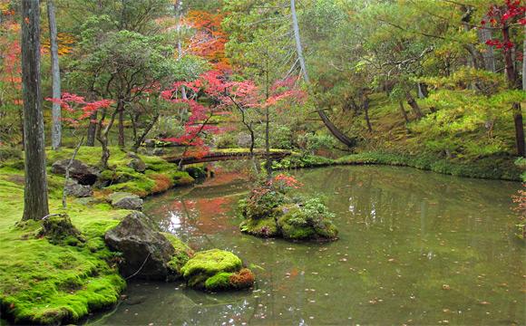 西芳寺・庭園・黄金池