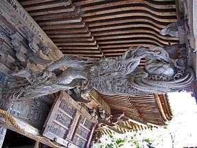 方広寺・開山堂「昇り龍」と「降り龍」