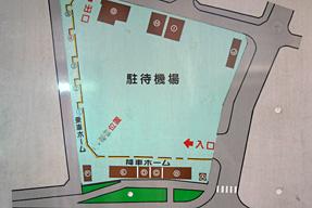 名護バスターミナル・構内案内図