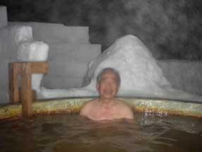 氷上露天風呂