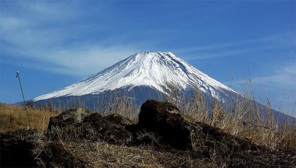 国道139号からの富士山