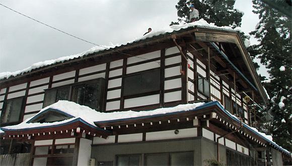 飛越合掌ライン・屋根の雪下ろし