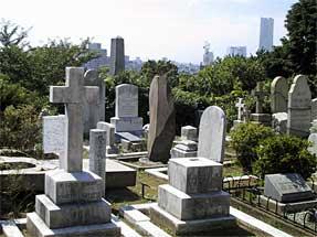 横浜・外国人墓地