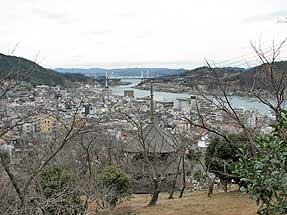 中村憲吉終焉の家から見える尾道の町